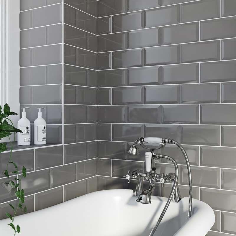 8 Different Ways To Use Metro Tiles Brick Tiles Bathroom Grey Bathroom Tiles Metro Tiles Bathroom