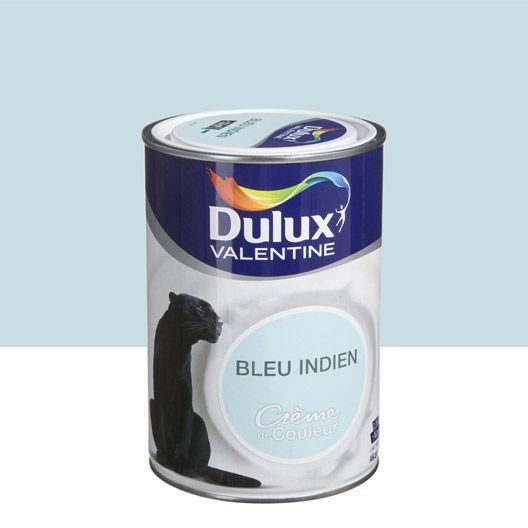 Peinture Multisupports Creme De Couleur Dulux Valentine Bleu Indien Satin 1 25l Peinture Murale Dulux Valentine Parement Mural
