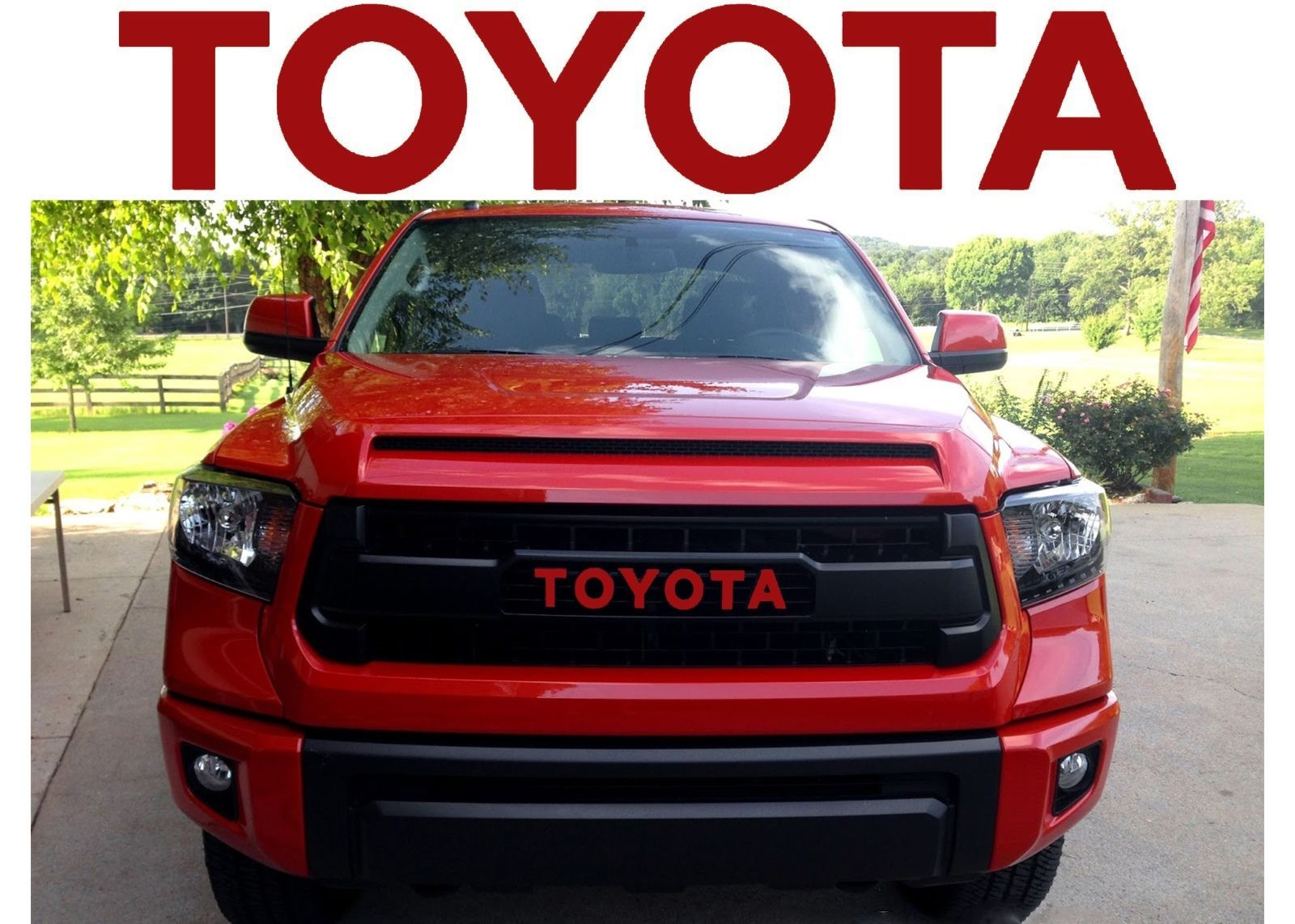 Cool Awesome Trd Pro Grille Barcelona Red Vinyl Decal Inserts For 2015 2017 Toyota Tundra New 2017 2018 Check More At Http 24auto Tk Toyota Tundra Toyota Trd