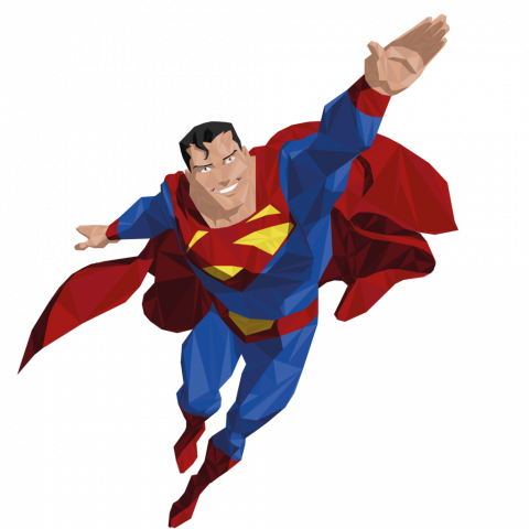 ⚡Superman Flying HD PNG Image Transparent photo (14) in