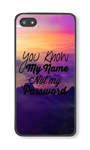 iPhone 5/5S Phone Case DAYIMM You Know My Name Not My Password Black PC Hard Case for Apple iPhone 5/5S Case