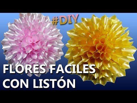 Cómo Hacer Flores De Listón Paso A Paso Flores Con Listón Fáciles Youtube Como Hacer Flores Flores De Liston Hacer Corona De Flores