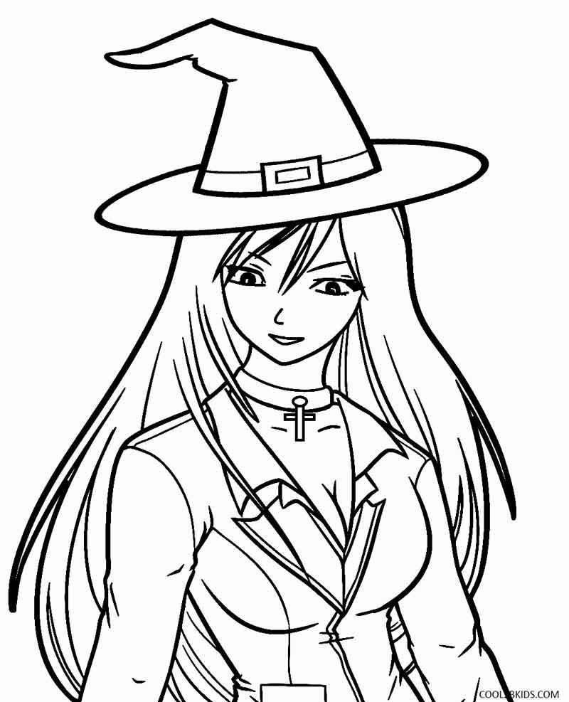 Printable Witch Coloring Pages For Kids | Cool2bKids | coloring ...