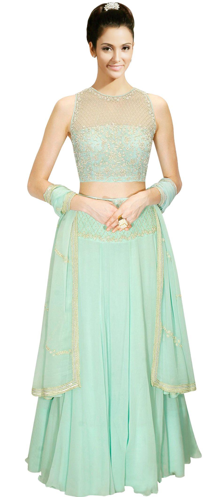 183908: Green color family Brides maid Lehenga, Mehendi & Sangeet ...