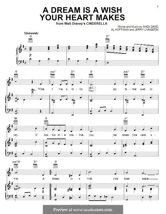 A Dream Is A Wish Your Heart Makes Flute Sheet Music A Dream Is A Wish Your Heart Makes From Disney S Cinderella By A Hoffman J Livingston M David On Musicaneo Cinderella Disney Guitar Guitar Sheet Music