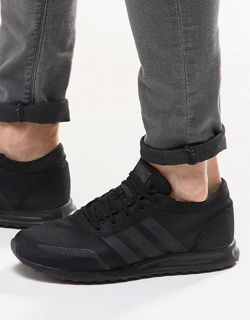 finest selection 76d9a 7c1ad Image 1 of adidas Originals Los Angeles Sneakers In Black S31535