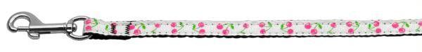 Cherries Nylon Collar White 3-8 wide 6Ft Lsh