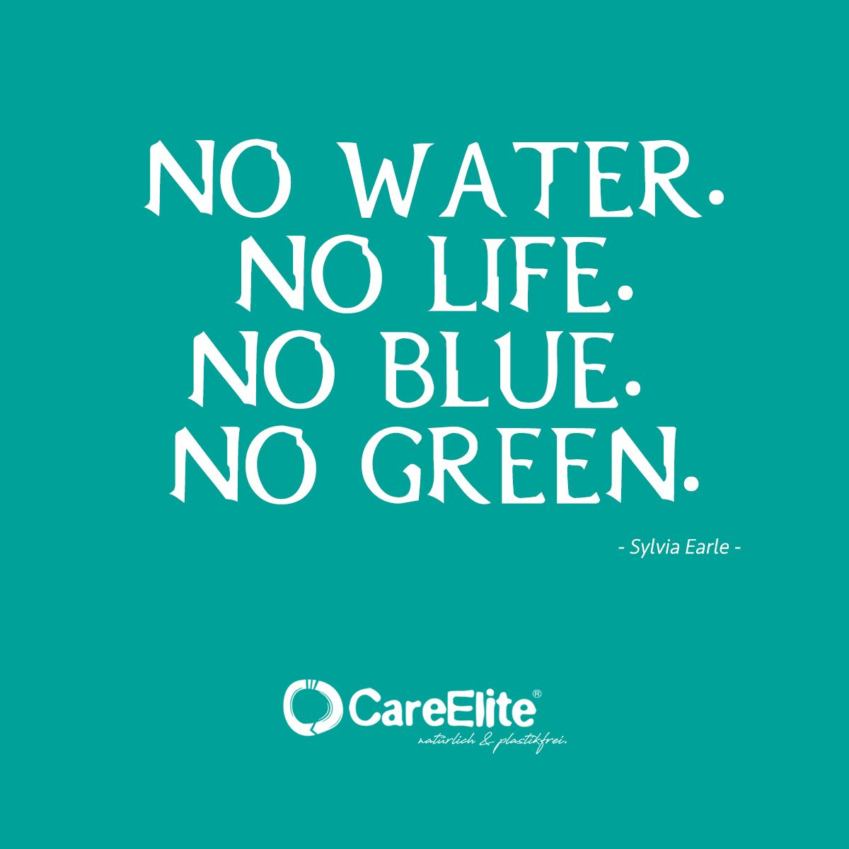 Fight Against Plastic Pollution No Water No Life No Blue