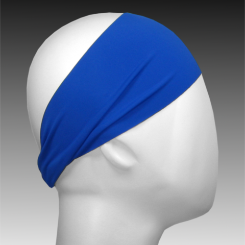 Light Performance Spandex Headband by Ponya Bands in Royal Blue | ponyabands.com