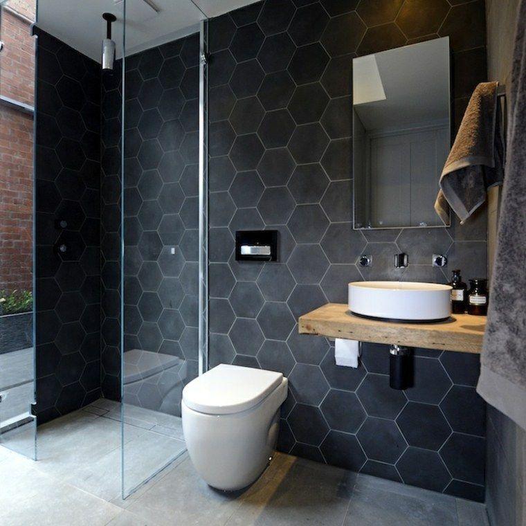 salle de bain avec douche italienne moderne