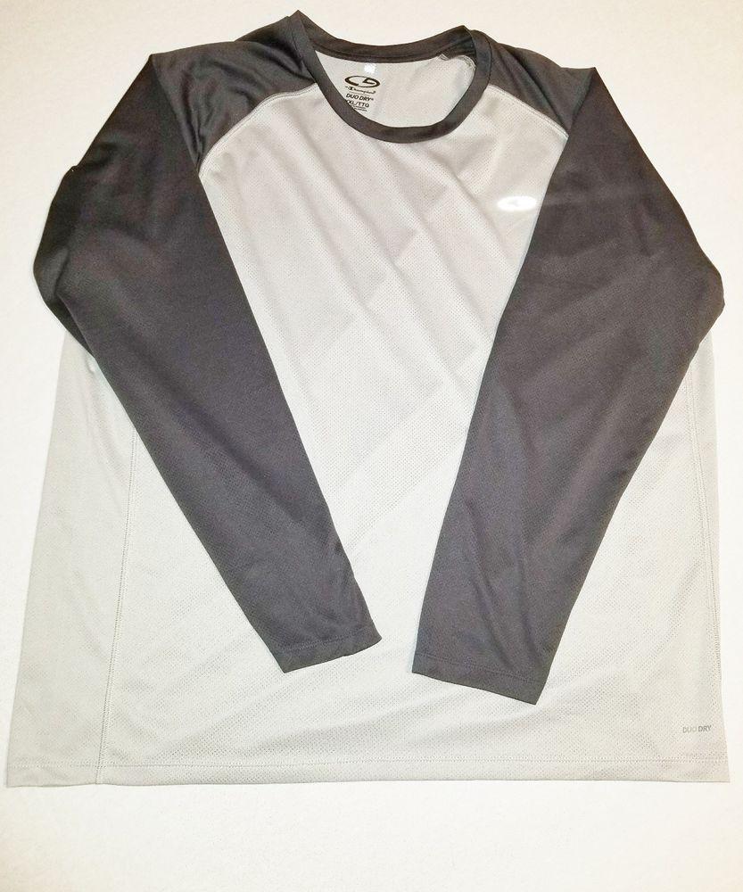 dc9b890c8531ac C9 Champion Duo Dry Mens Size XXL TTG Long Sleeve Athletic Lightweight  Shirt A17