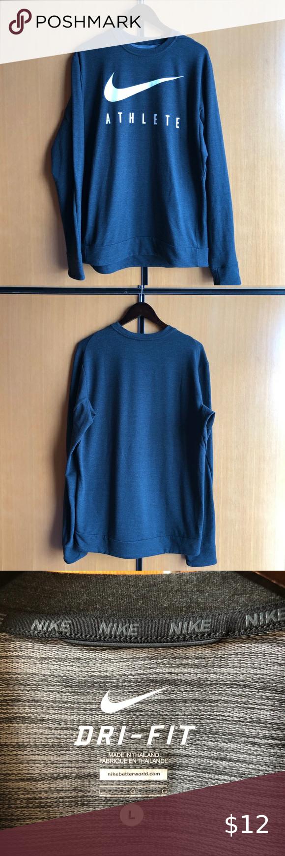 Nike Dri Fit Sweatshirt Sweatshirts Workout Sweatshirt Sweatshirt Shirt [ 1740 x 580 Pixel ]