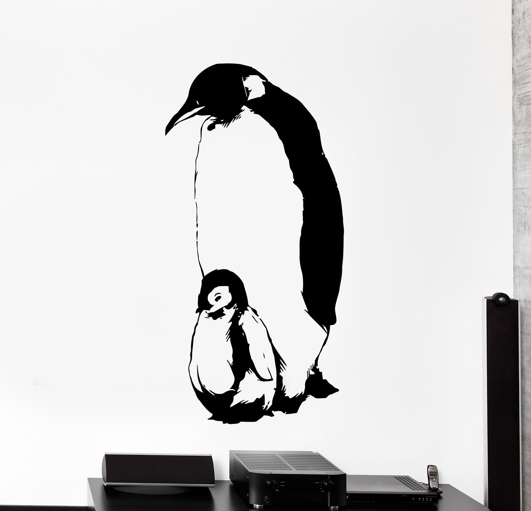 Peeking Penguin Vinyl Decal Sticker Car Truck Window