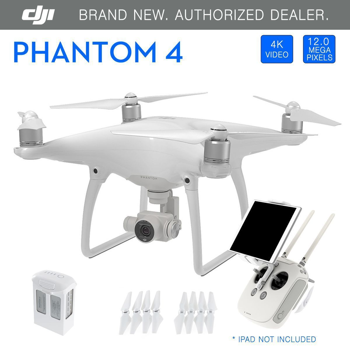 DJI Phantom 4 GPS QuadCopter Phantom4 Drone 4K 12 Megapixel HD Camera - New https://t.co/TZcV8m4fEG https://t.co/iJITuztslG
