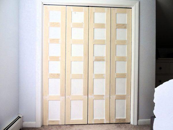 Remodelaholic Bi Fold To Paneled French Door Closet Makeover