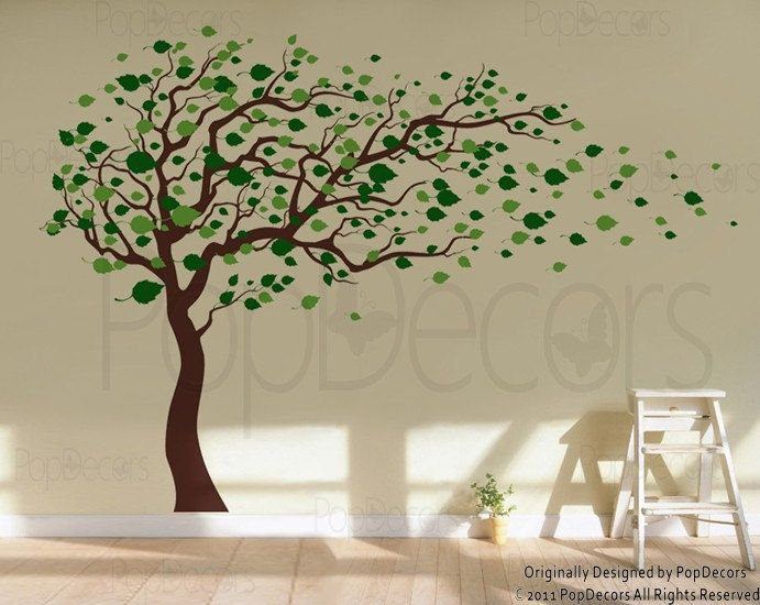 Custom for sarah larsen gone with the wind 78inch h for Baby nursery tree mural