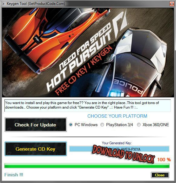 need for speed hot pursuit activation key free download