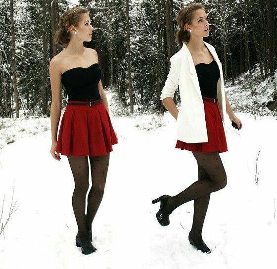823a4612a Falda roja circular   Sport elegante   Vestidos, Ropa y Faldas