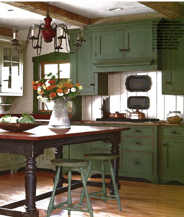 exposed beam kitchen ceiling   This kitchen's rustic look ...