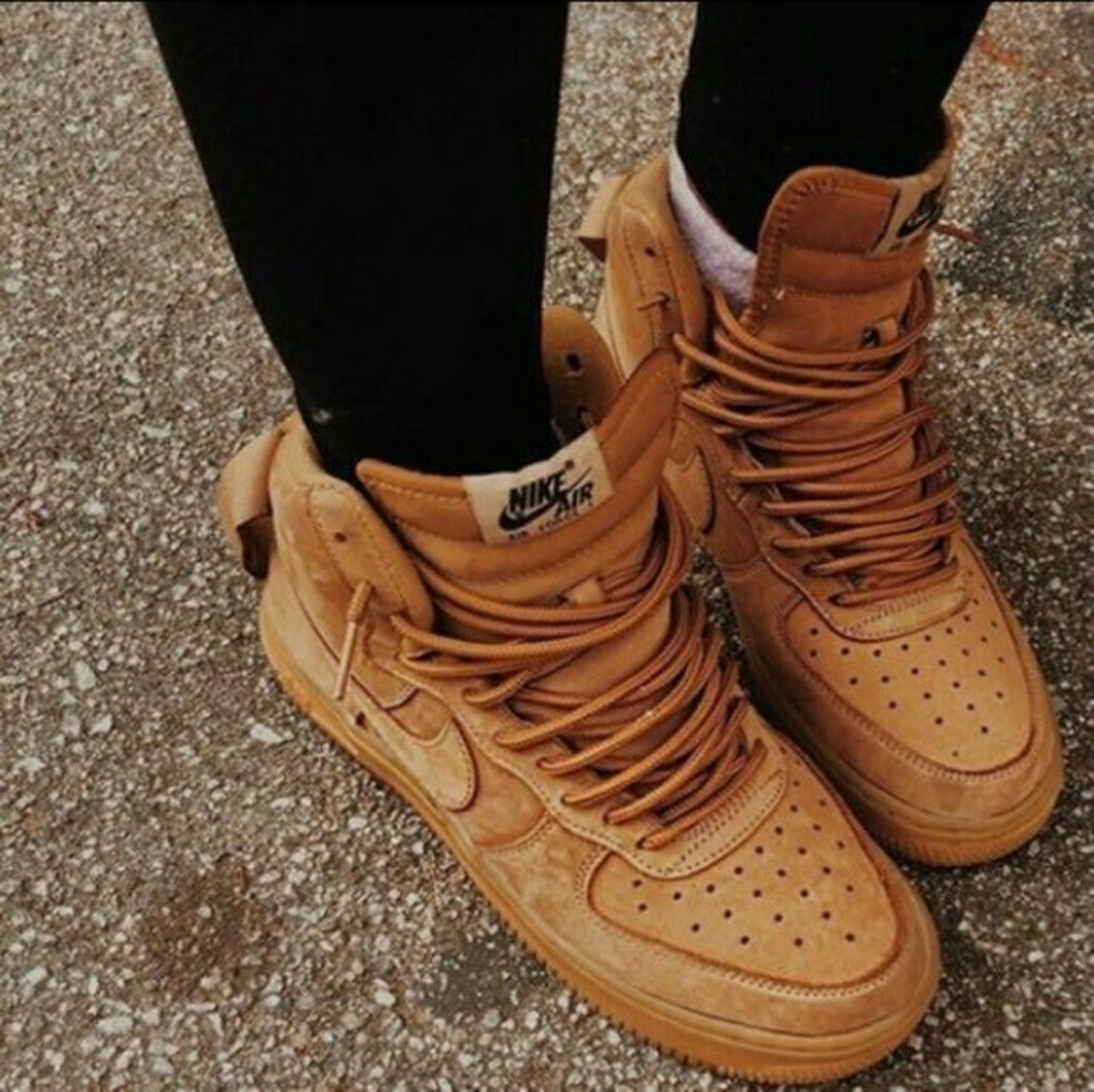 Nike air force brown, Tan nike shoes