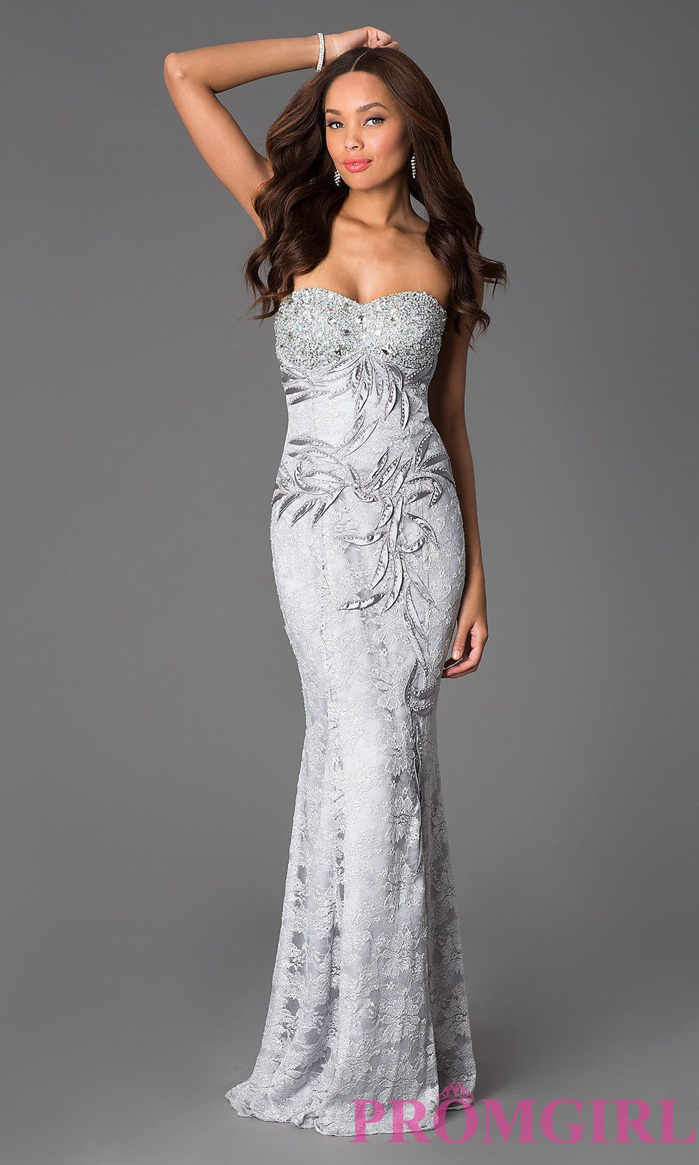 DQ-8872 promgirl.com In silver - $200 (has a corset back) | Wedding ...