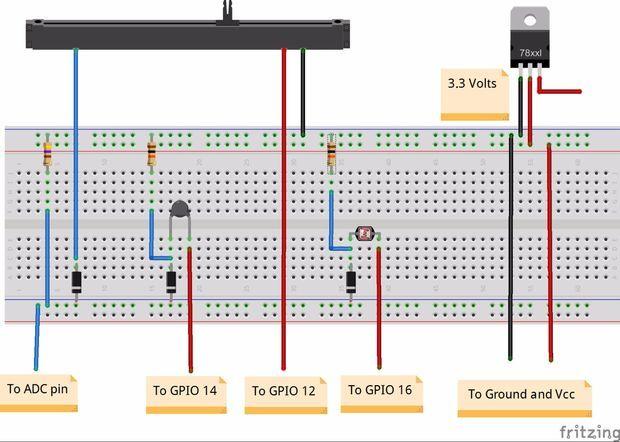 Esp8266 Adc Multiple Analog Sensors Arduino Arduino Wireless