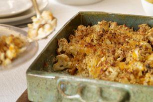 Cauliflower-Cheddar Bake Recipe - Kraft Recipes - lighten up with healthier versions of ingredients!