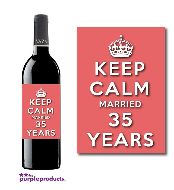 Keep Calm 35th Coral Wedding Anniversary Married 35 Years Wine Etsy Wedding Anniversary Wine 35th Wedding Anniversary 50 Golden Wedding Anniversary