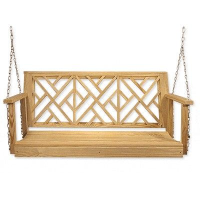 Old Days Furniture Chippendale Best Wooden Porch Swing Outdoor Furniture Decor Porch Swing Porch Decorating Wood porch swings for sale