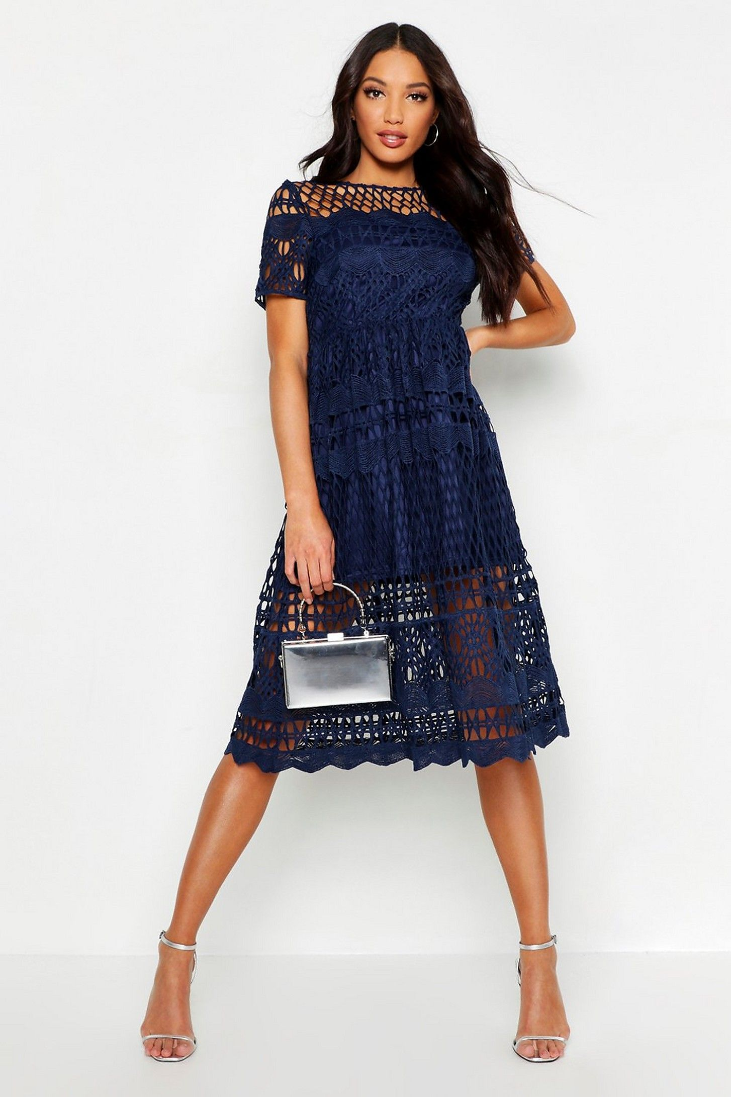 61e5d14c9a9a Boutique Corded Lace Panelled Skater Dress in 2019 | 25. Apparel ...