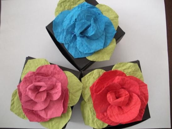 Ornament Rose gift boxes by mugsie - Cards and Paper Crafts at Splitcoaststampers