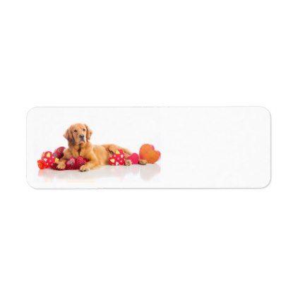 Happy ValentineS Day Puppy Label