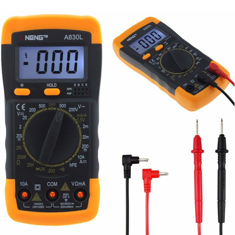 Aneng A830l Digital Multimeter Dc Ac Voltage Diode Freguency Transistor Tester Diodo Instrumento De Medición Ac Dc