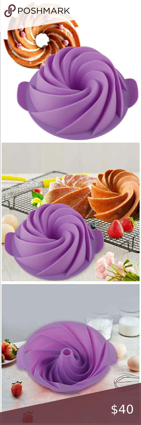 New Silicone Bundt Cake Pan In 2020 Cake Molds Silicone Cake Mold Bundt Cake Pan