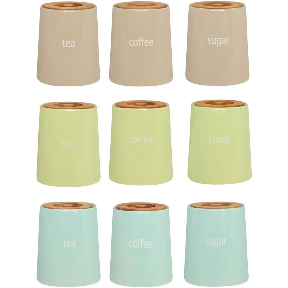 fletcher tea coffee sugar canisters kitchen ceramic storage jars