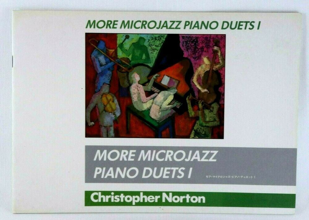 Microjazz Piano Duets I Christopher Norton 1988 Vintage Sheet Music Book #vintagesheetmusic