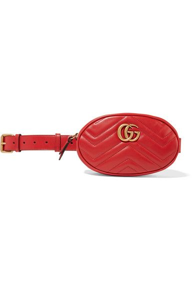 GUCCI GG Marmont quilted leather belt bag.  gucci  bags  belt bags  suede   379318974e9