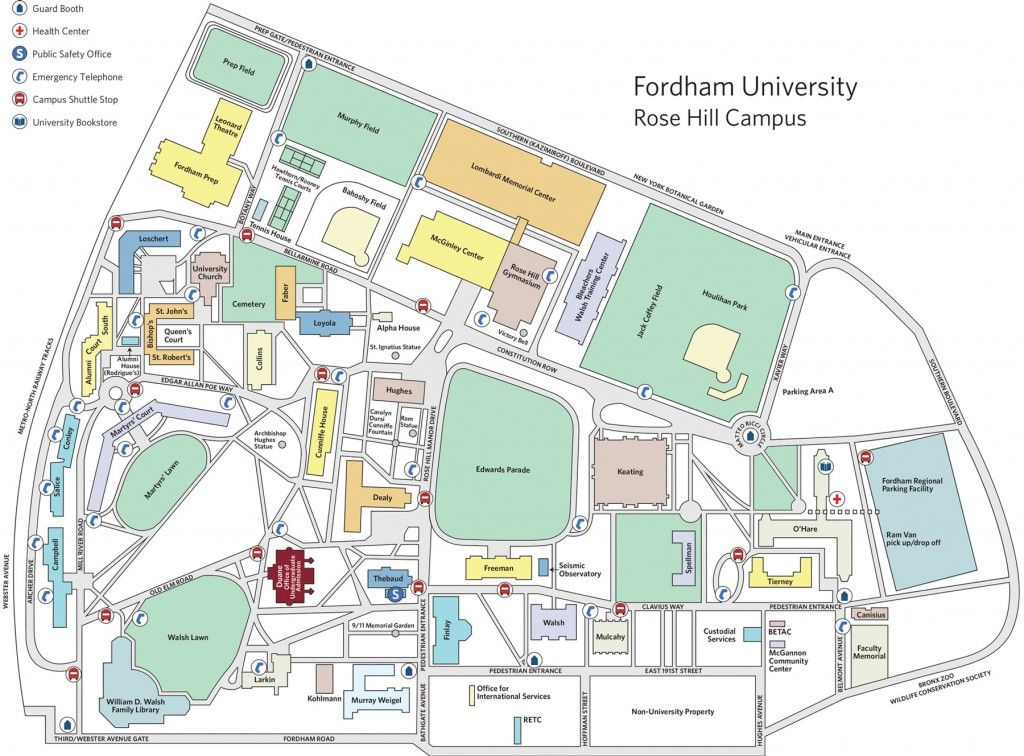 Image Result For Fordham University Rose Hill Campus Map Fordham