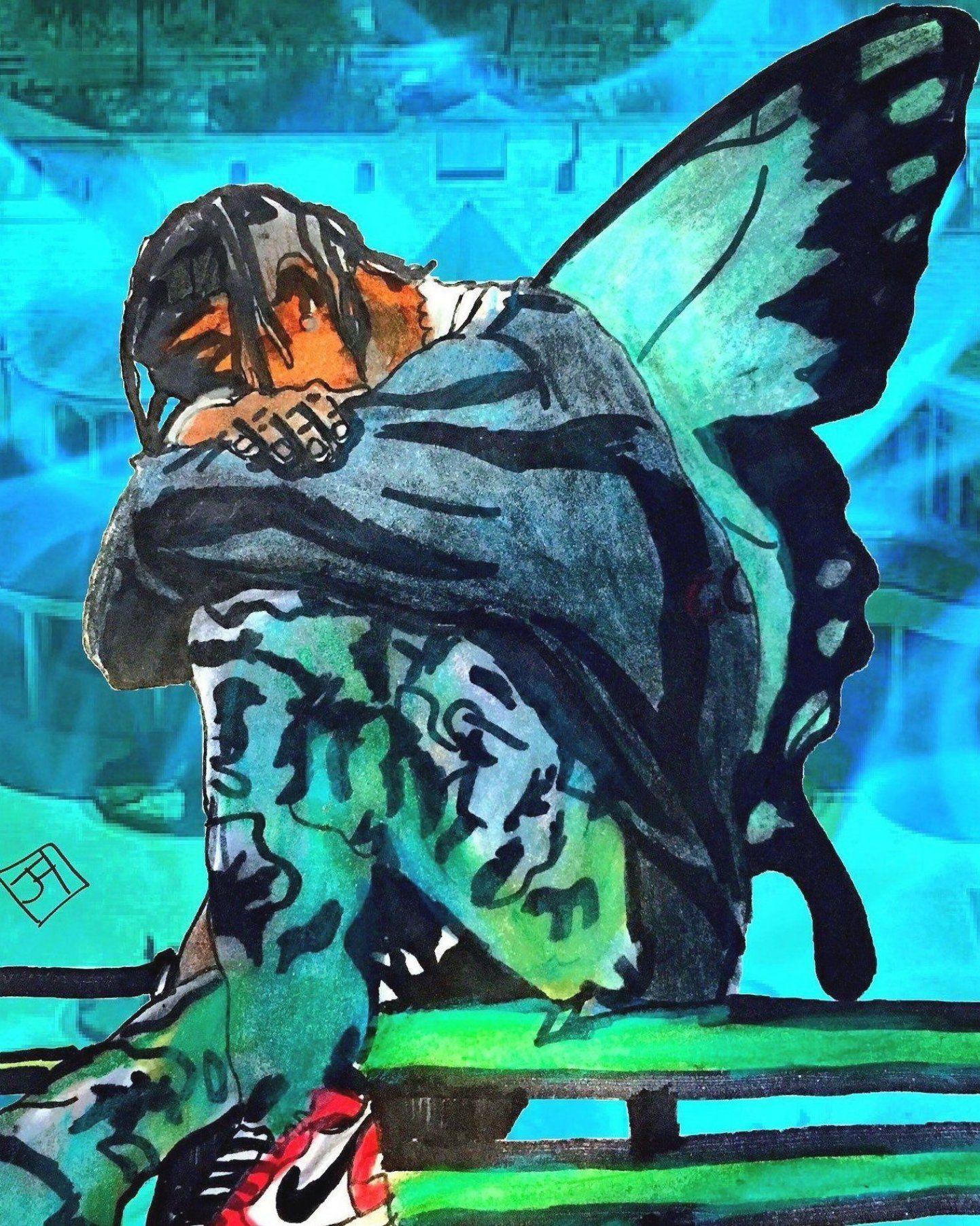 Pin By Ellie On My Pins In 2020 Travis Scott Wallpapers Travis Scott Art Rapper Art
