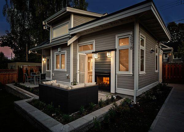 This 750 square foot custom laneway house has a spacious for 750 sq feet