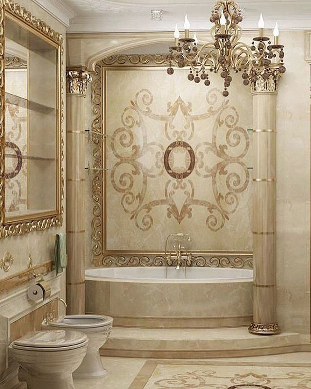 Ivory And Champagne Ont Bathroom Tile Work Lighting Home Accents Designnashville