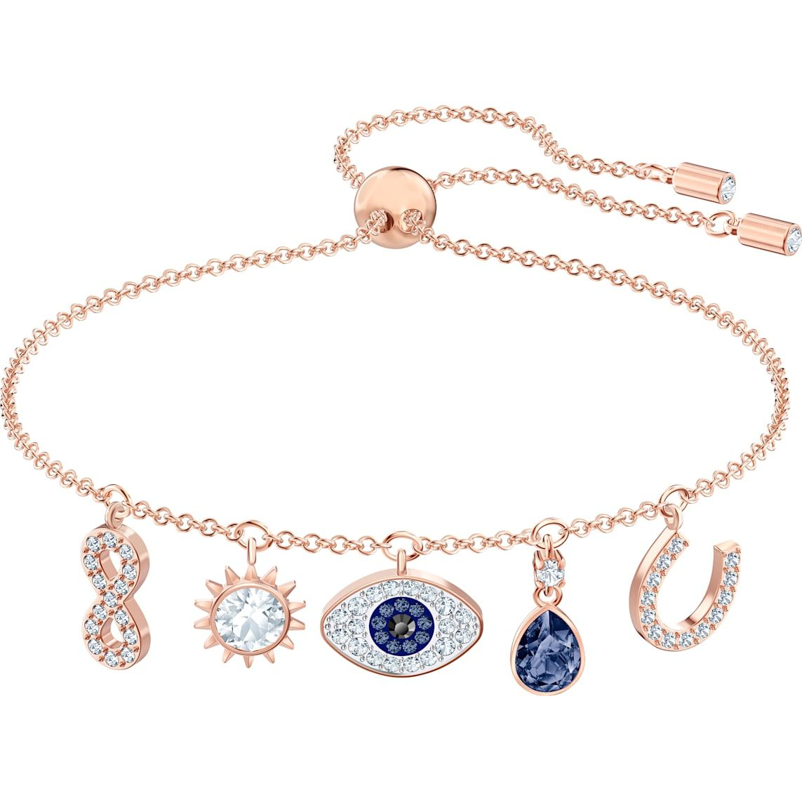 Inspired Silver Blue Class of 2019 Pave Heart Charm Bracelet