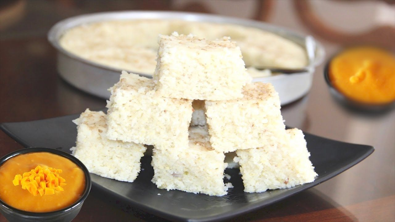 Idada or Idra - White Dhokla Video Recipe | Steamed Savory Rice ...