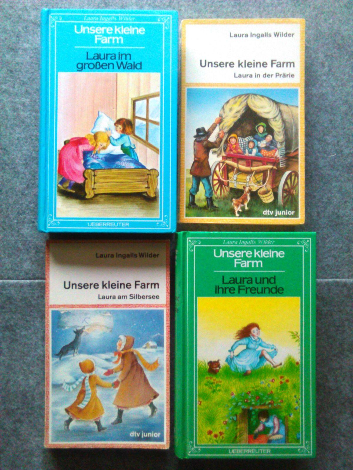 4x LAURA INGALLS WILDER * 4 Bücher UNSERE KLEINE FARM Bd 1, 2, 3 + 4 ...