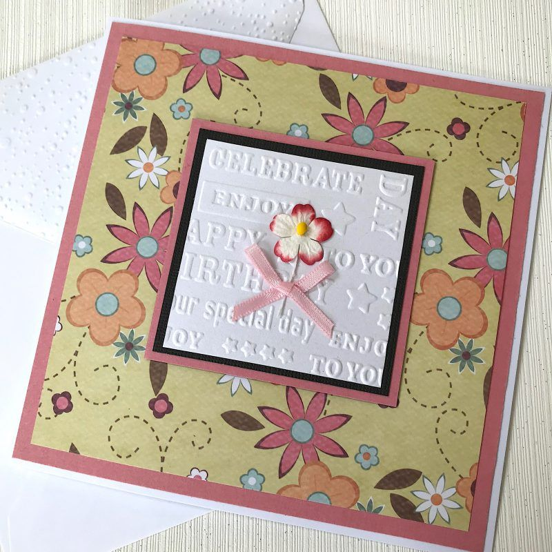 Flower Birthday Card Handmade Ready For Delivery