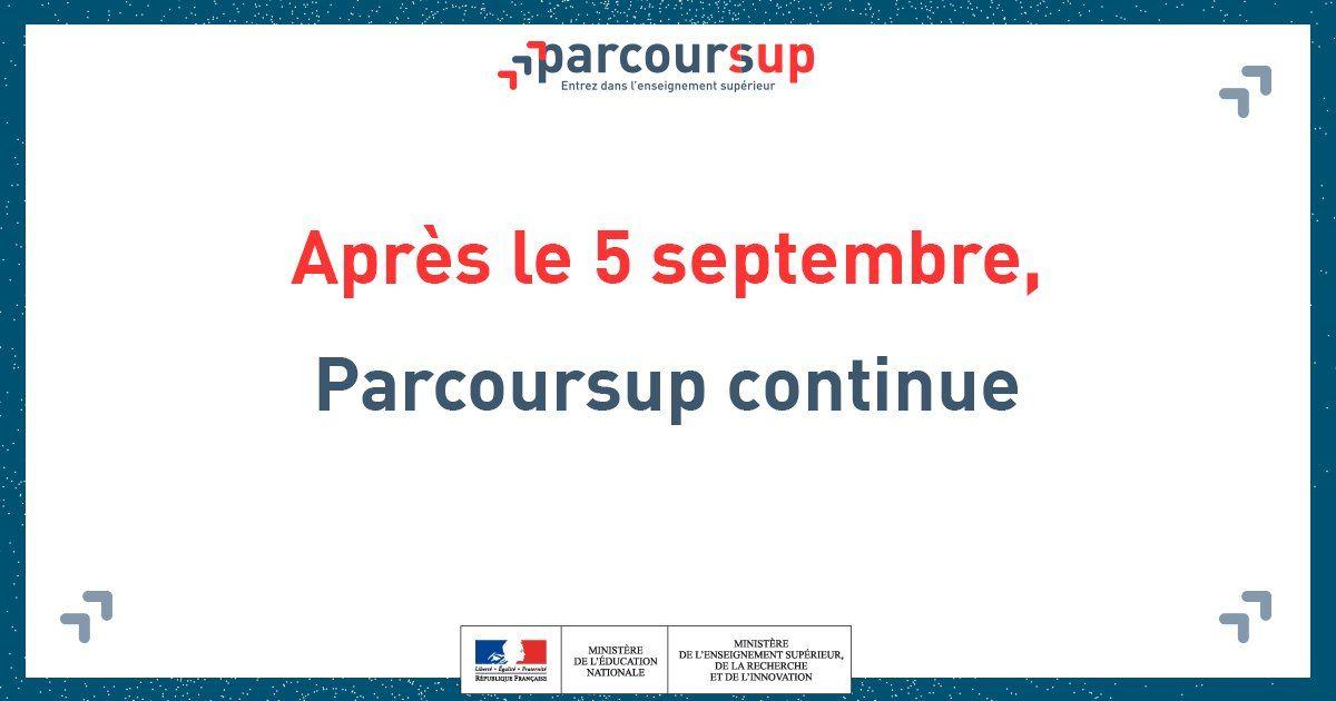Parcoursup Info Apres La Fin De La Phase Principale Il N Y Aura Plus De Liste D Attente Mais Vous Pouvez Tou Enseignement Superieur Enseignement Nationale