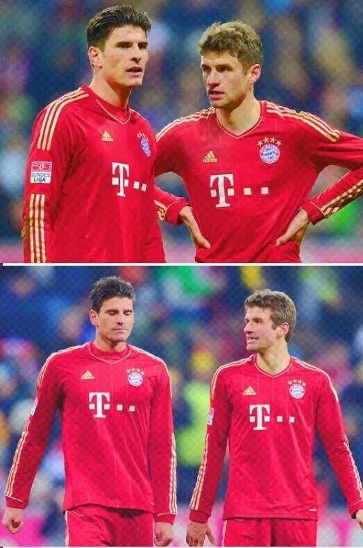 Mario Gomez and Thomas Müller