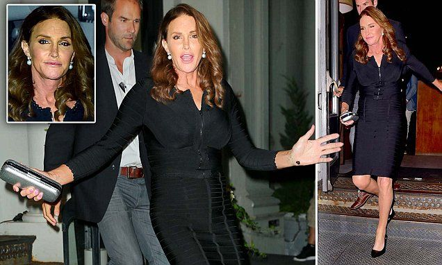 Caitlyn Jenner parties in a sexy (and VERY tight) LBD