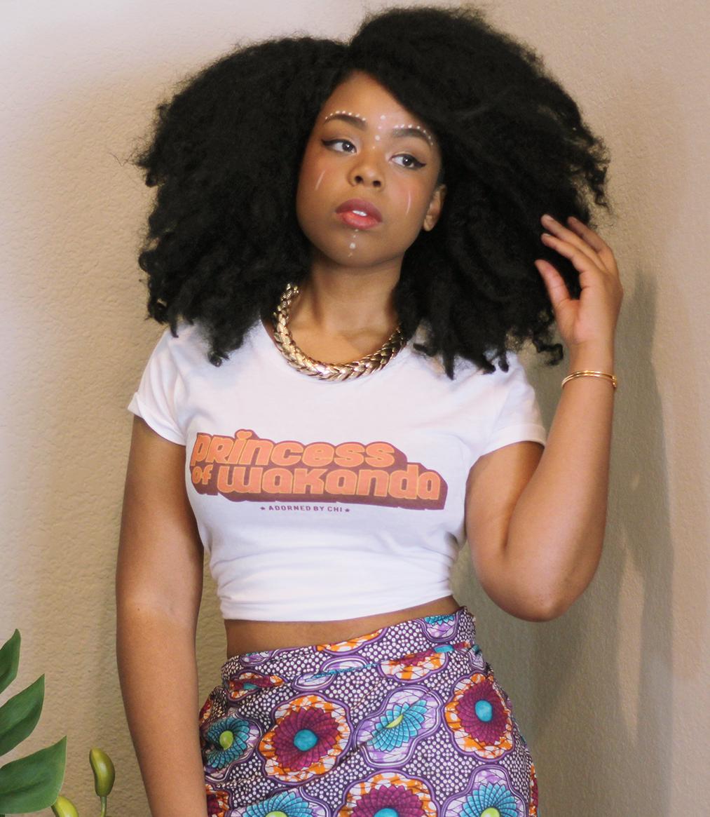 """""""Princess of Wakanda"""" 70's Inspired Women's short sleeve t ..."""