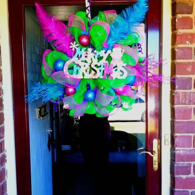 Deco mesh wreath I made
